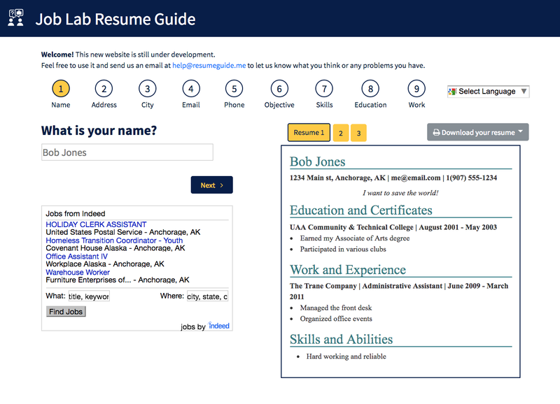 Build your Resume EASY with ResumeGuideme